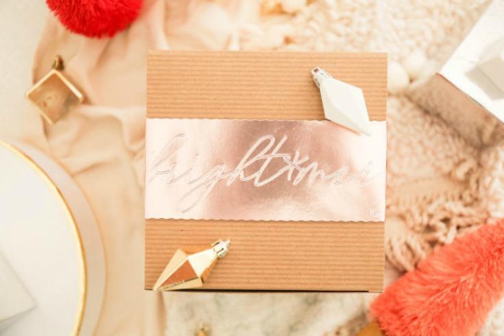 DIY Gift Wrap With Debossed Foil Sleeve