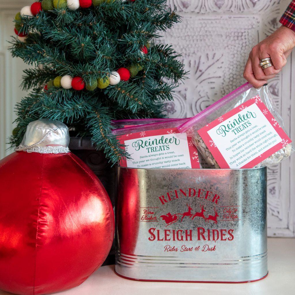 reindeer treats bags free printable