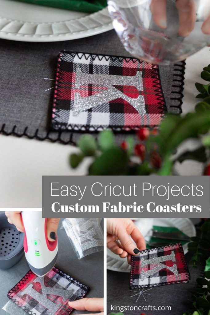 Easy Cricut Projects Custom Fabric Coasters