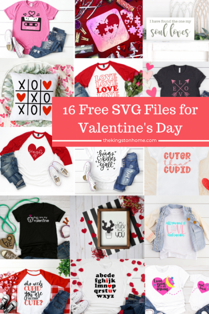 16 Free SVG Files For Valentine's Day - The Kingston Home: Get ready to share the love this Valentine's Day with these 16 free SVG files! via @craftykingstons
