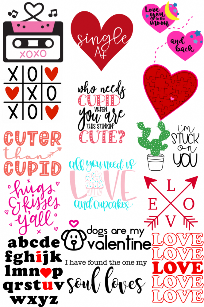 16 free svg files for valentine's day