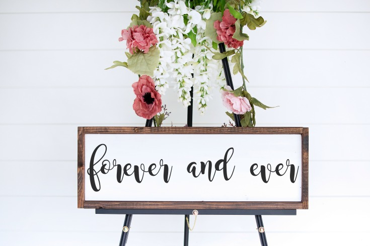 forever and ever wedding decor