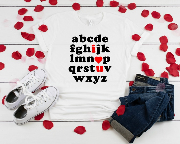 I love you valentine's day t-shirt