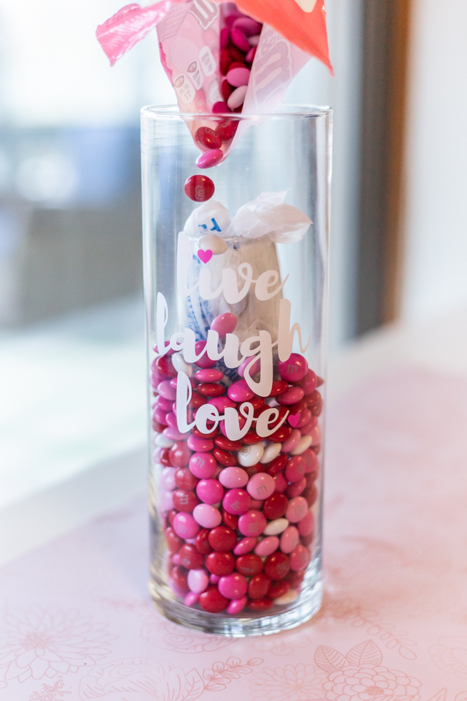 m&ms inside of large vase for m&ms inside large vase for valentine's day candy craft