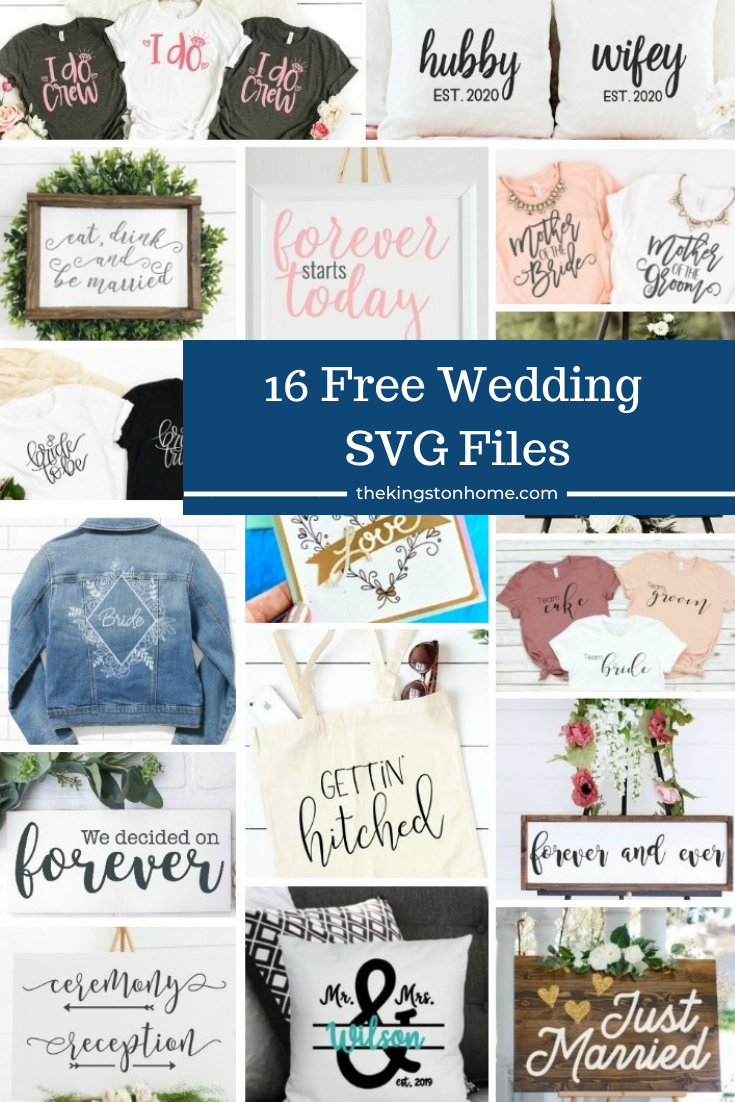 16 + Free Wedding SVG Files - The Kingston Home: Looking for something ''borrowed'' for an upcoming wedding?? Then check out these 16 FREE Wedding SVG files! via @craftykingstons