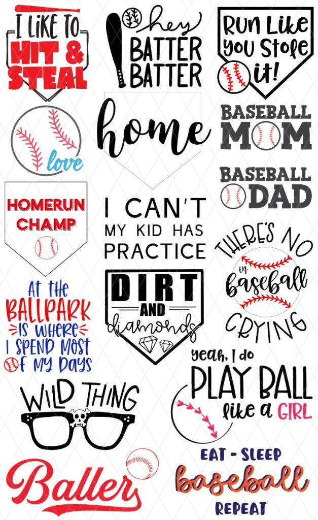 15 free baseball svg file images