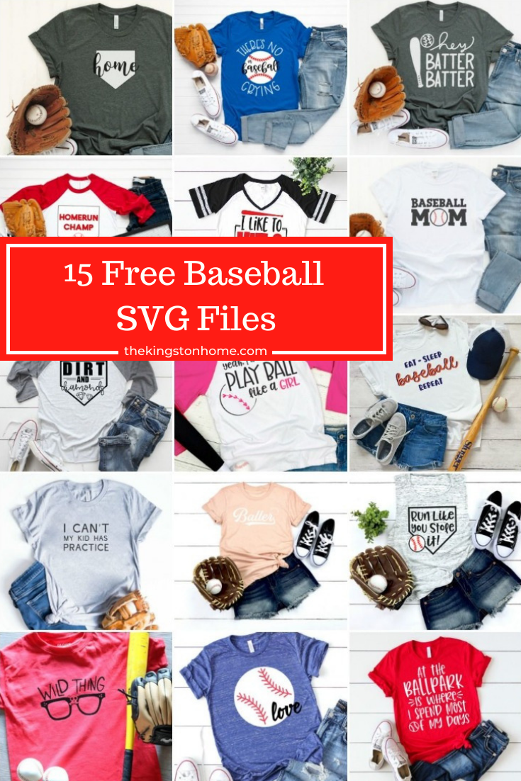 15 + Free Baseball SVG Files - The Kingston Home: Baseball season is right around the corner, so don't strike out and miss these 15 FREE Baseball themed SVG files! via @craftykingstons