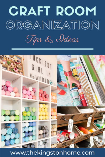 Craft Room Organization - The Kingston Home
