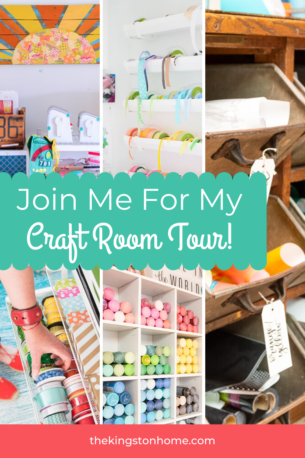 Join Me For My Craft Room Tour - The Kingston Home: Let's talk about craft room organization! Whether you've got a large room, a small closet or are crafting on your dining room table – I've joined with some of my favorite people to share our favorite storage and organization tips from our own craft rooms via @craftykingstons
