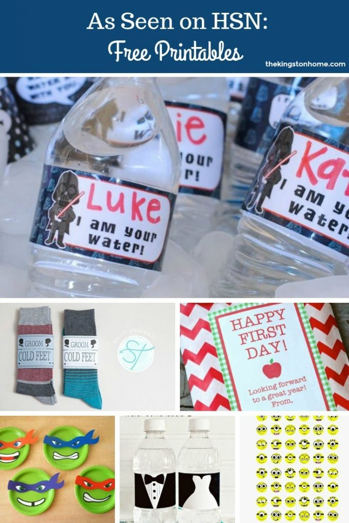 As Seen on HSN FREE Printables - The Kingston Home