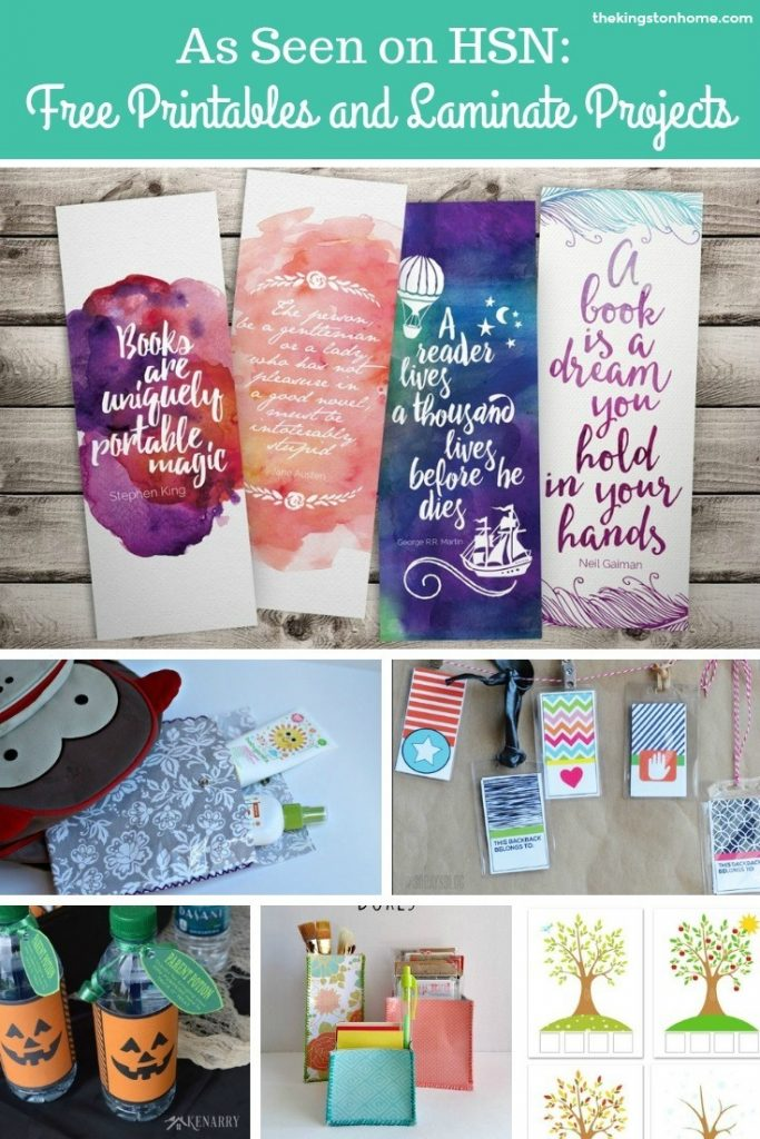 As Seen on HSN Free Printables and Laminate Projects - The Kingston Home