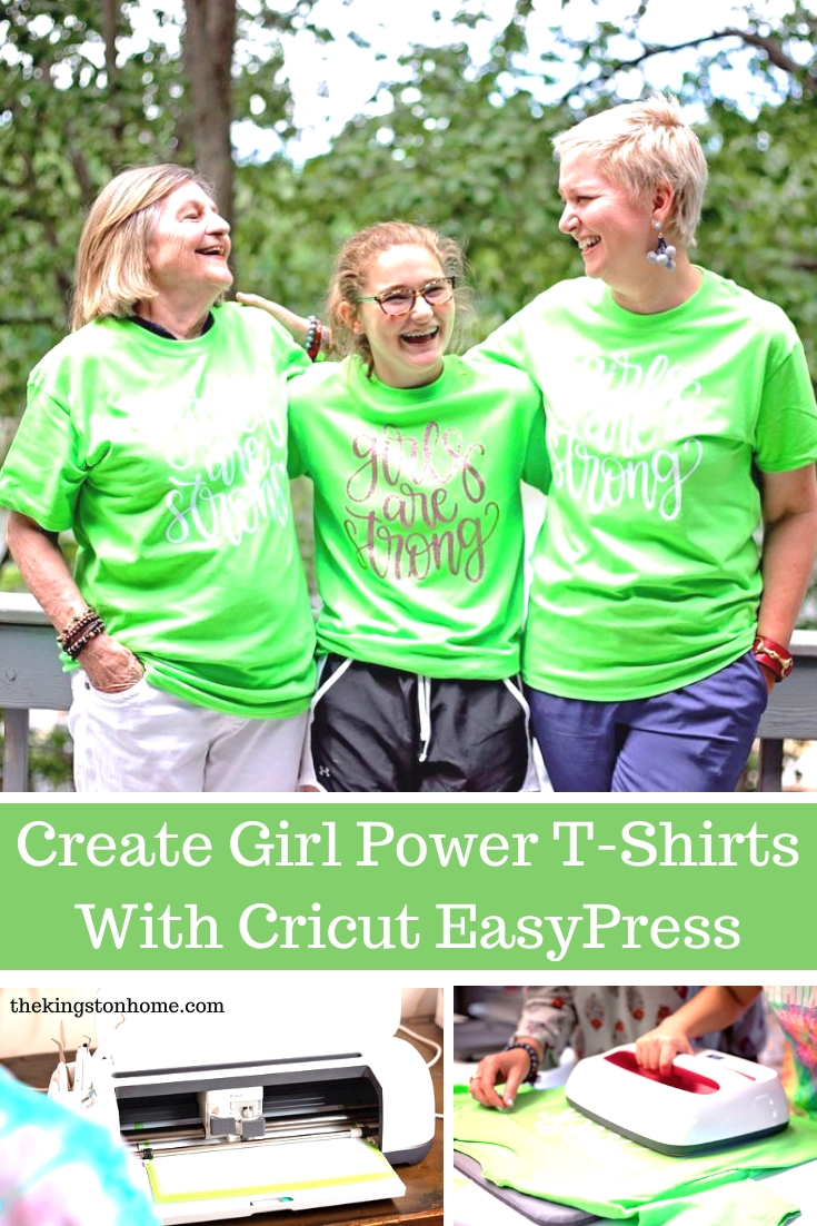 Create Girl Power T-Shirts - The Kingston Home: It's the International Day of the Girl and we are celebrating the amazing young women in our lives with custom girl power t-shirts! via @craftykingstons