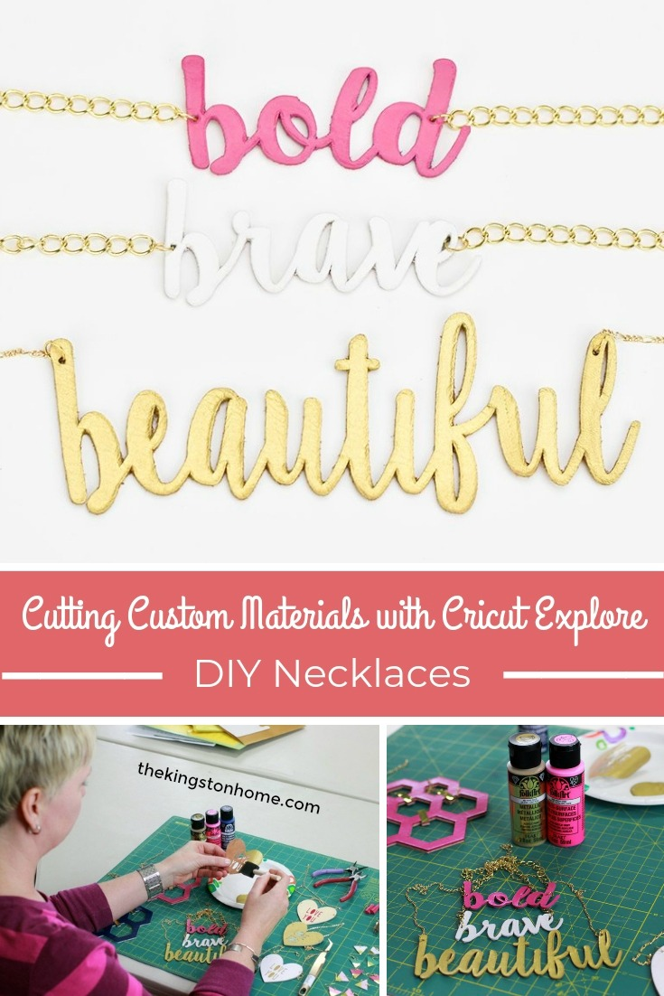 Cutting Custom Materials with Cricut Explore – DIY Necklaces - The Kingston Home