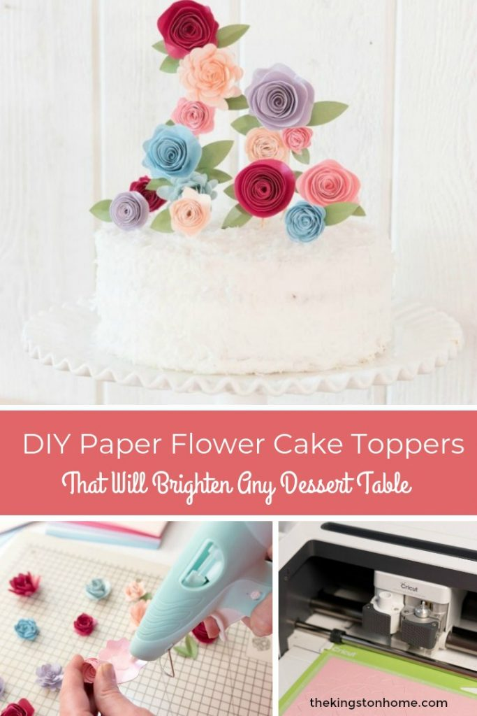 DIY Paper Flower Cake Toppers That Will Brighten Any Dessert Table - The Kingston Home