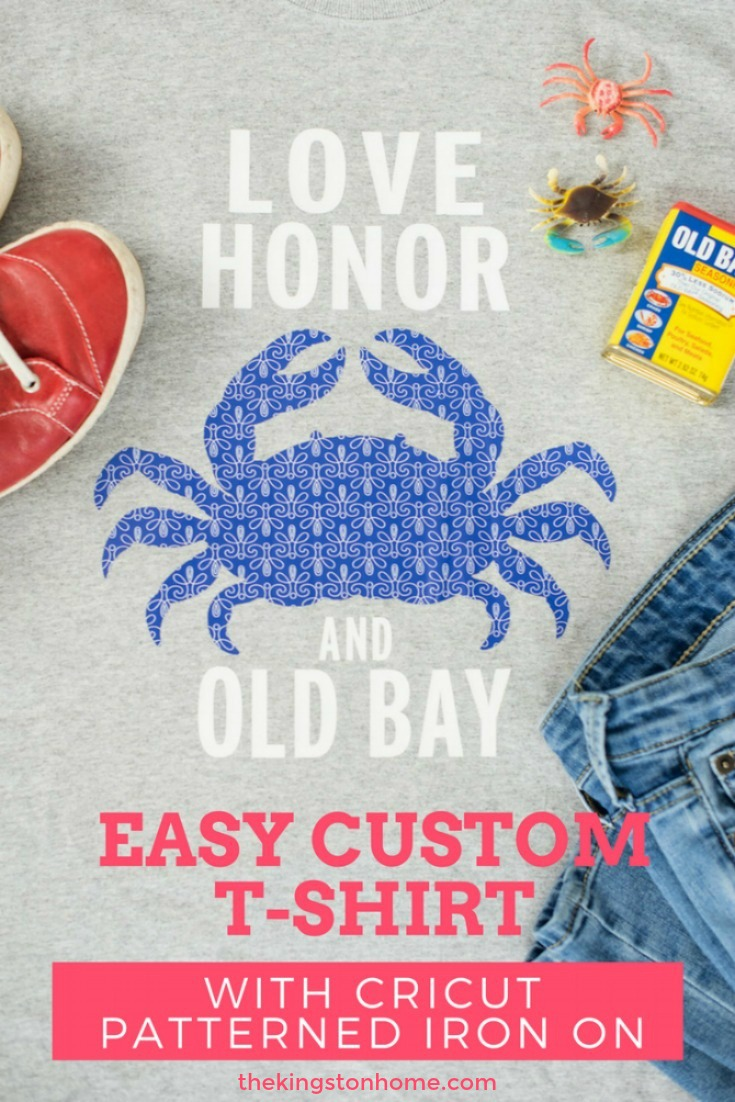 Easy Custom T-Shirt with Cricut Patterned Iron On - The Kingston Home: Hooray! Cricut has just released patterned iron on and my little customizing everything heart couldn't be happier! Today I'm going to share some tips and tricks for creating an easy custom t-shirt in just a few steps with the new Cricut Patterned Iron On. via @craftykingstons