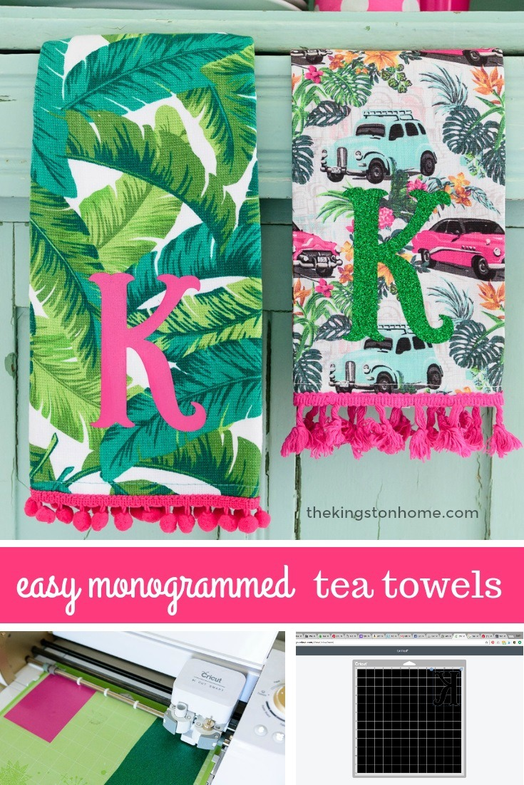 Easy Customized Hostess Gifts – Monogrammed Tea Towels - The Kingston Home