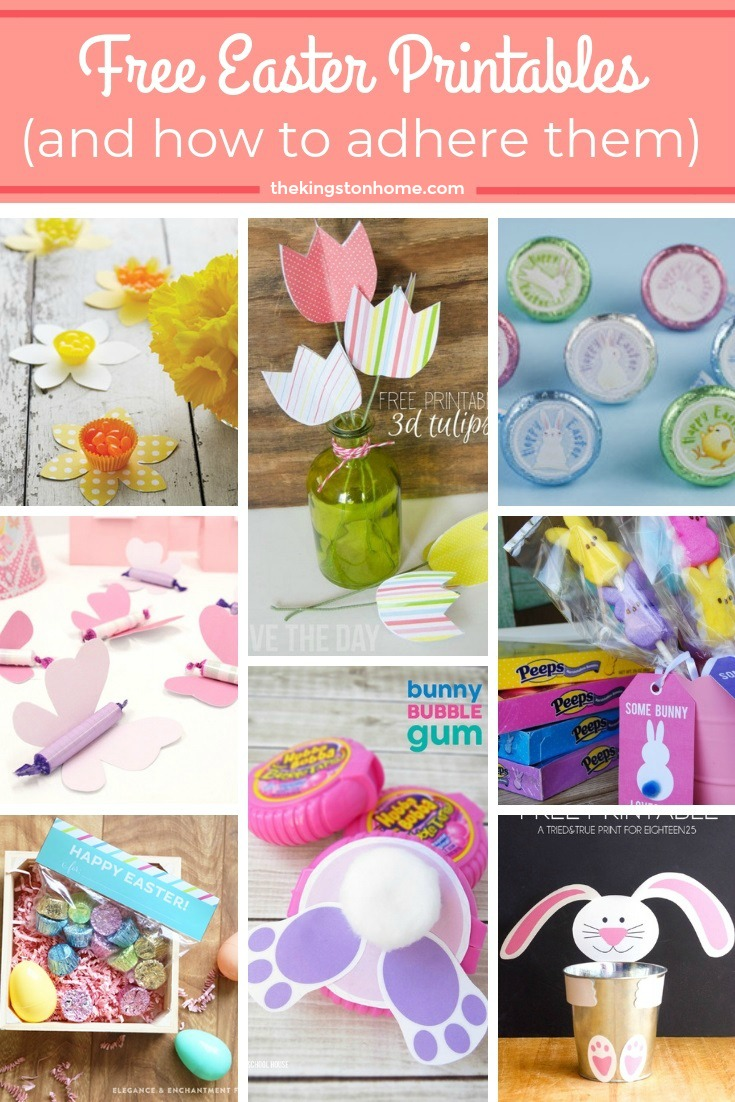 FREE Easter Printables and How to Adhere Them (as seen on HSN)! - The Kingston Home: Learn how to turn all those printables, that you have been saving on your computer, into fun projects using Xyron adhesive! Plus, check out these adorable and FREE Easter printables! via @craftykingstons