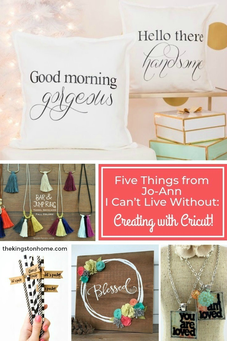 Five Things from Jo-Ann I Can't Live Without: Creating with Cricut! - The Kingston Home: If you love shopping at Jo-Ann Fabrics as much as I do, then you probably have those items that you can't live without! Today, I am sharing my top 5 items that I use over and over again with my Cricut, that can be found at any Jo-Ann store! via @craftykingstons