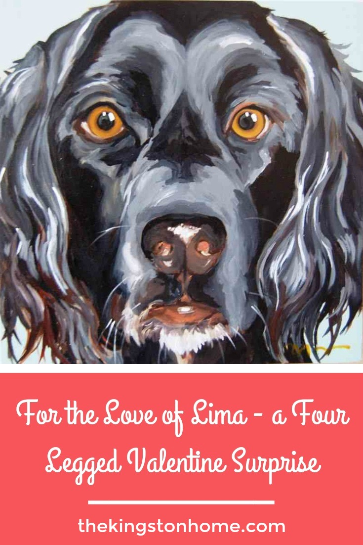For the Love of Lima – a Four Legged Valentine Surprise - The Kingston Home: The Kingstons are not big on Valentine's Day. However, this year, I found the perfect Valentine surprise that involves creativity, the heart, and pet portraits! via @craftykingstons
