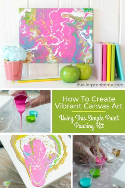 How To Create Vibrant Canvas Art Using This Simple Paint Pouring Kit - The Kingston Home