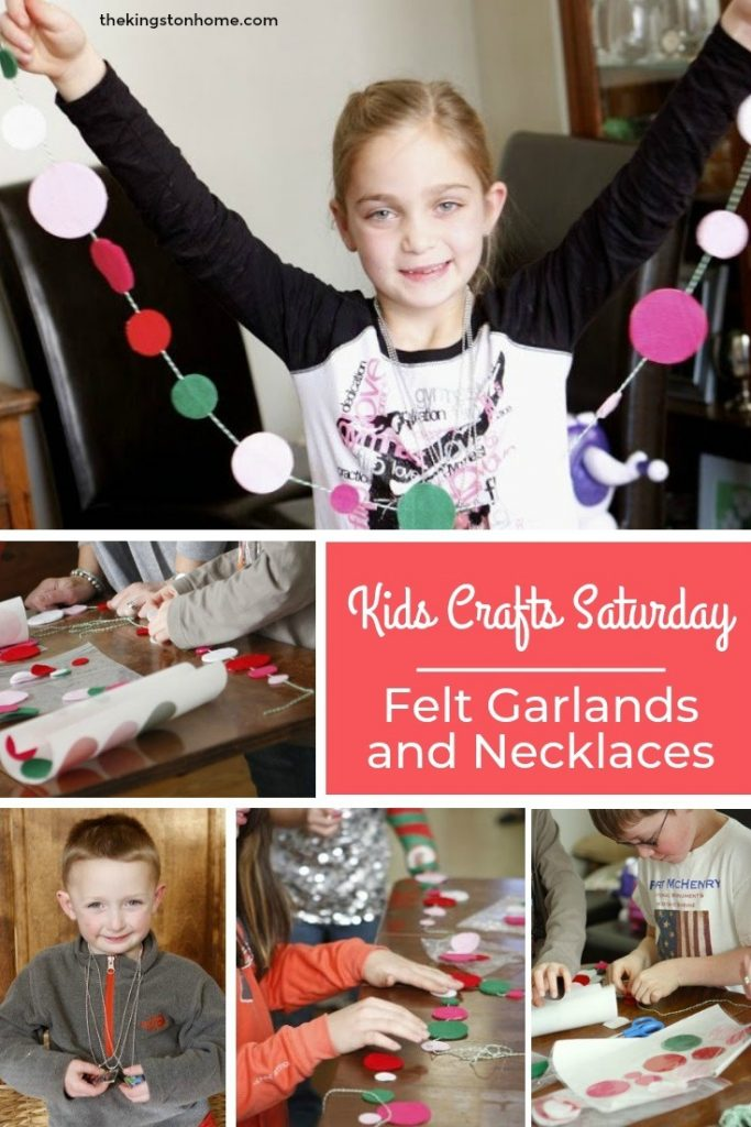 Kids Crafts Saturday – Felt Garlands and Necklaces - The Kingston Home