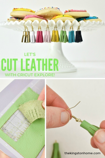 Let's Cut Leather with the New Cricut Explore Air Gold - The Kingston Home