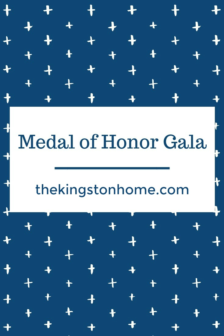 "Medal of Honor Gala - The Kingston Home: ""This has been life changing."" That was what I said through teary eyes to Bruce Brereton - one of the co-hosts of the Congressional Medal of Honor Foundation's Celebration of Freedom Gala - as I hugged him goodnight on Saturday. via @craftykingstons"