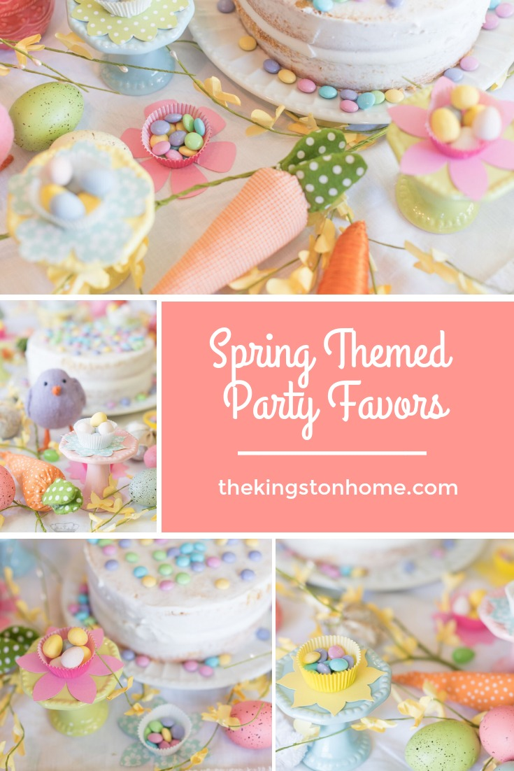 Spring Themed Party Favors - The Kingston Home: Add that extra touch to your next event by making these adorable Spring themed party favors with just a few sheets of paper and some cupcake liners! via @craftykingstons
