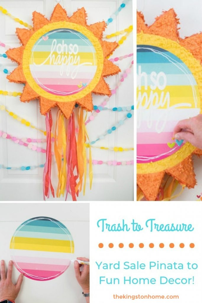 Trash to Treasure Yard Sale Pinata to Fun Home Decor - The Kingston Home