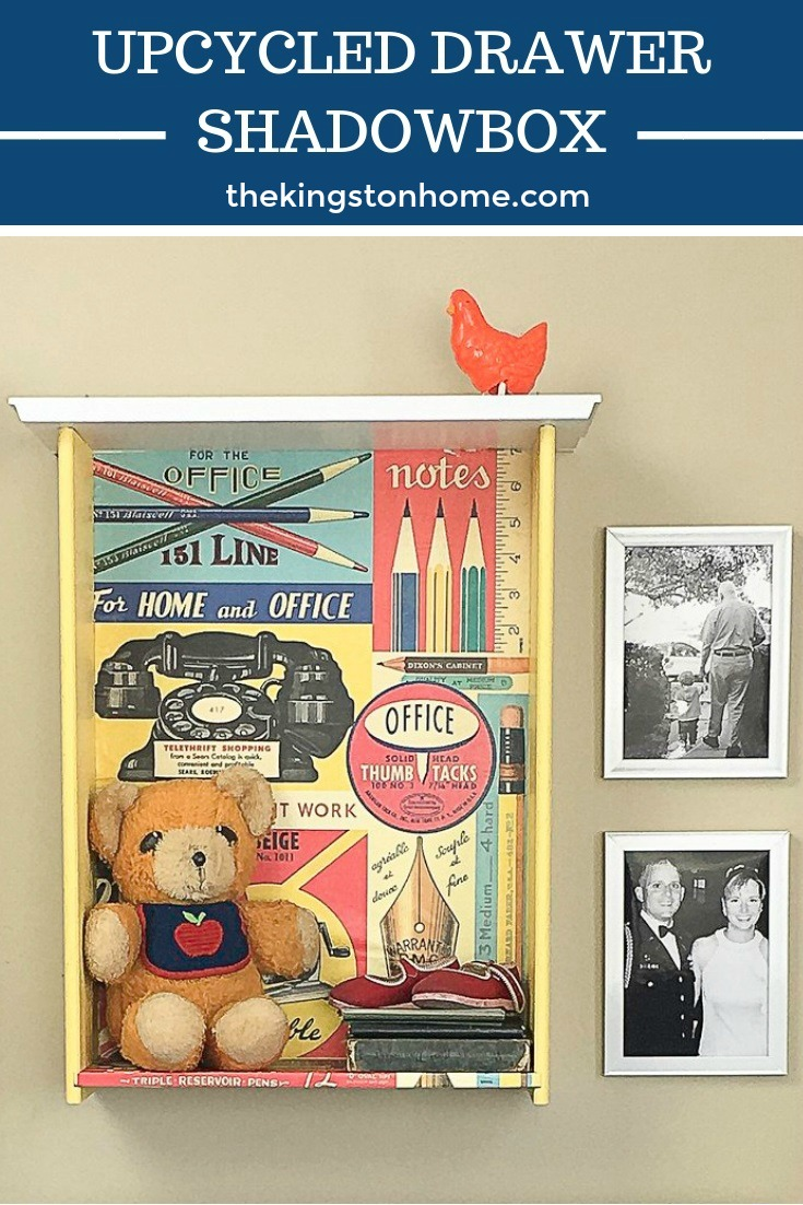 Upcycled Drawer Shadowbox - The Kingston Home