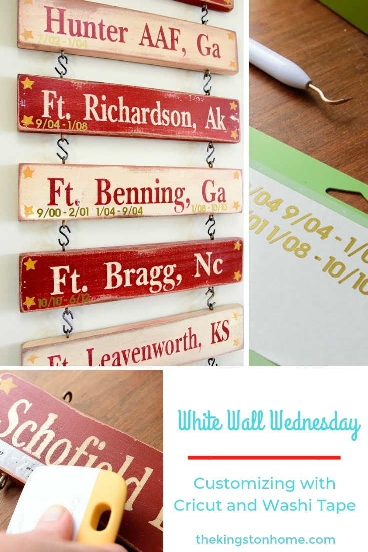 White Walls Wednesday – Customizing with Cricut and Washi Tape - The Kingston Home