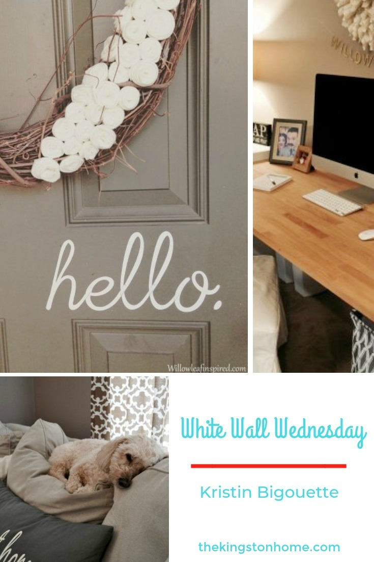 White Walls Wednesday – Kristin Bigouette - The Kingston Home: White Walls is an online community dedicated to helping military families make home wherever Uncle Sam sends them. Every Wednesday I will be introducing you to a military spouse and sharing his/her creativity and a little bit about them. Today, we will meet Kristin Bigouette! via @craftykingstons