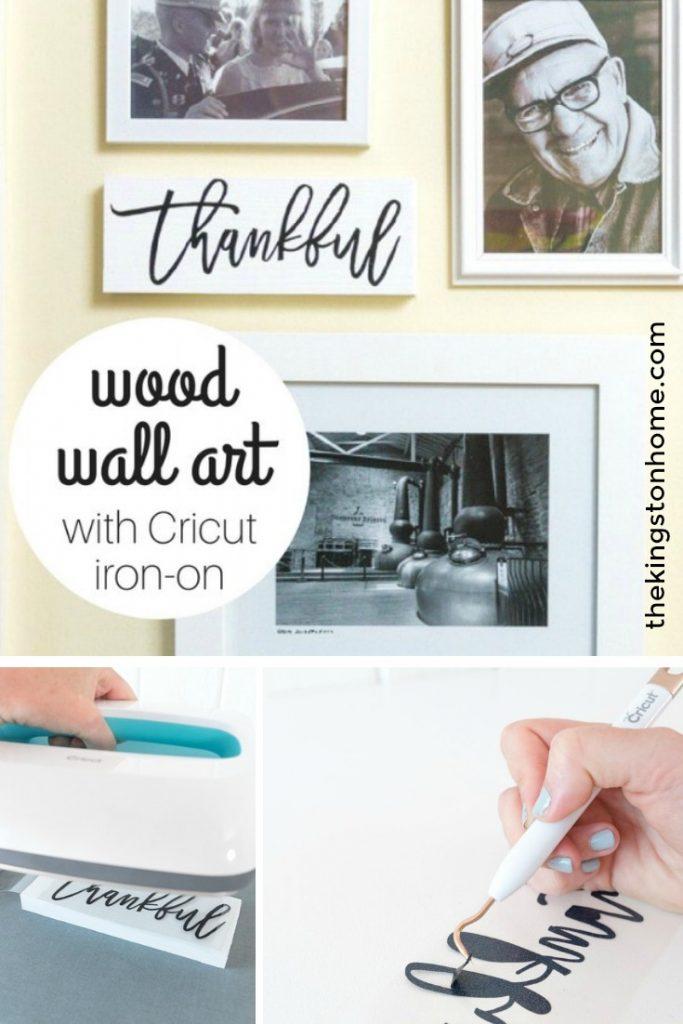 Wood Wall Art with Cricut Iron On - The Kingstom Home
