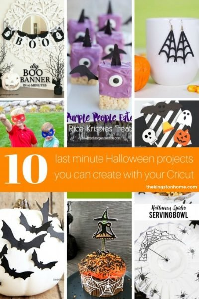 10 Last Minute Halloween Projects with Cricut - The Kingston Home
