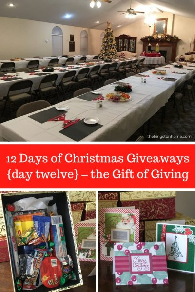 12 Days of Christmas Giveaways {day twelve} – the Gift of Giving - The Kingston Home