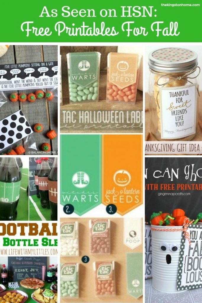 As Seen on HSN Free Printables for Fall - The Kingston Home
