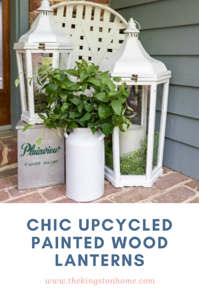 Chic Upcycled Painted Wood Lanterns - The Kingston Home