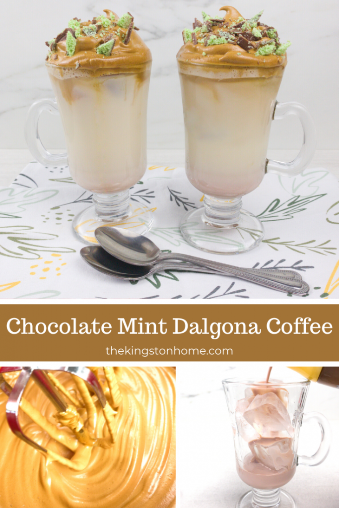 Chocolate Mint Dalgona Coffee - The Kingston Home