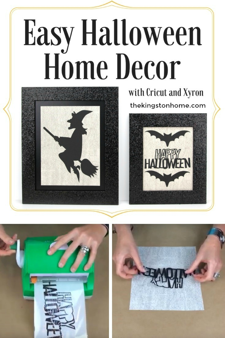 Cricut + Xyron = Easy Halloween Home Décor - The Kingston Home