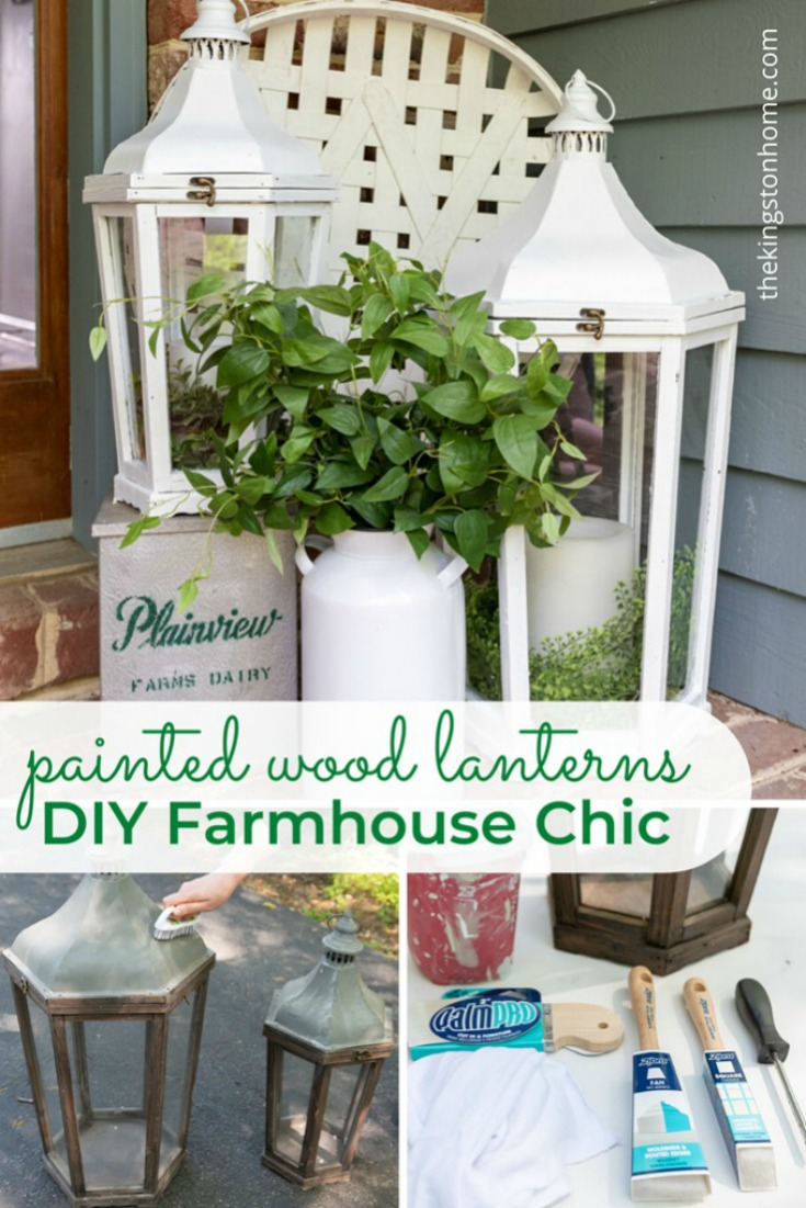 DIY Farmhouse Chic Painted Wood Lanters - The Kingston Home