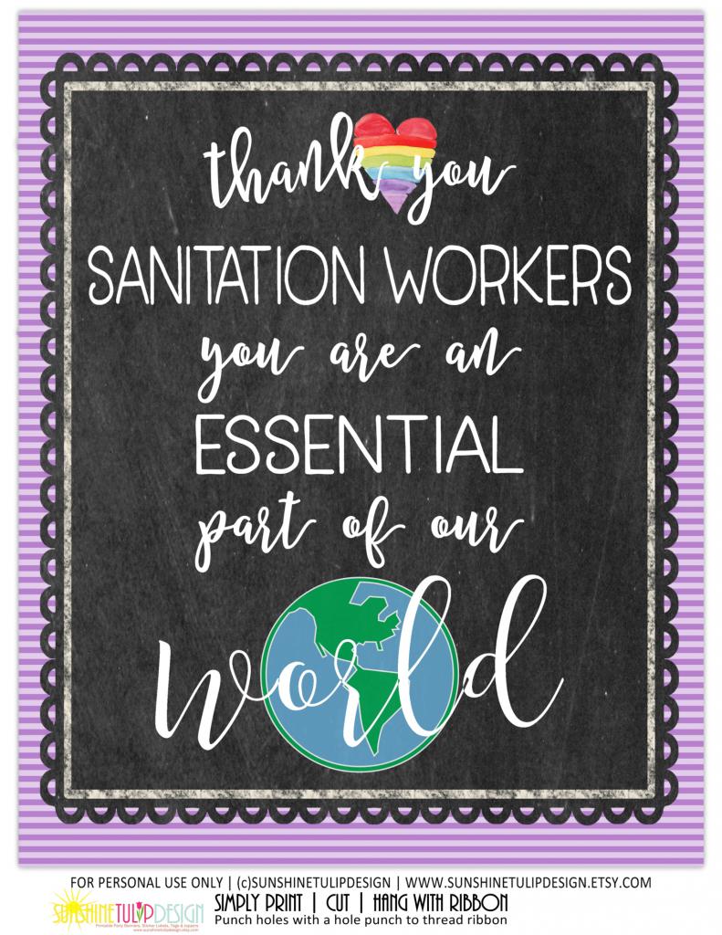 Essential Sanitation worker 8x10 print black