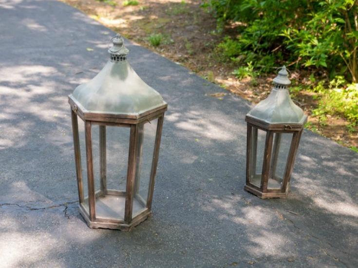farmhouse wood lanterns