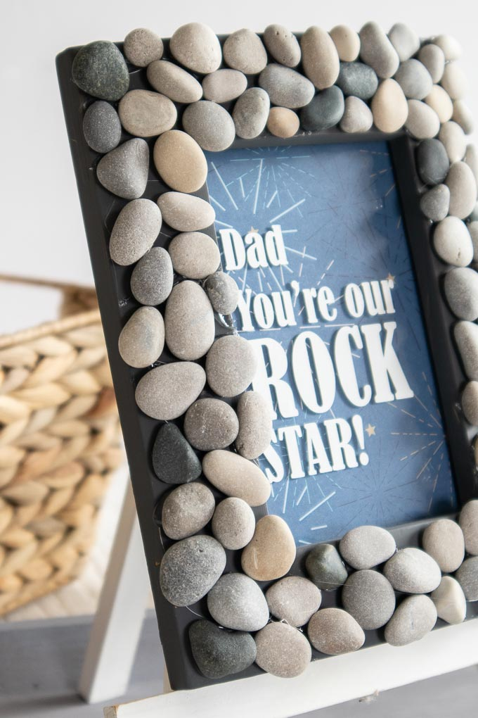 Fathers Day Rock Star Frame close up