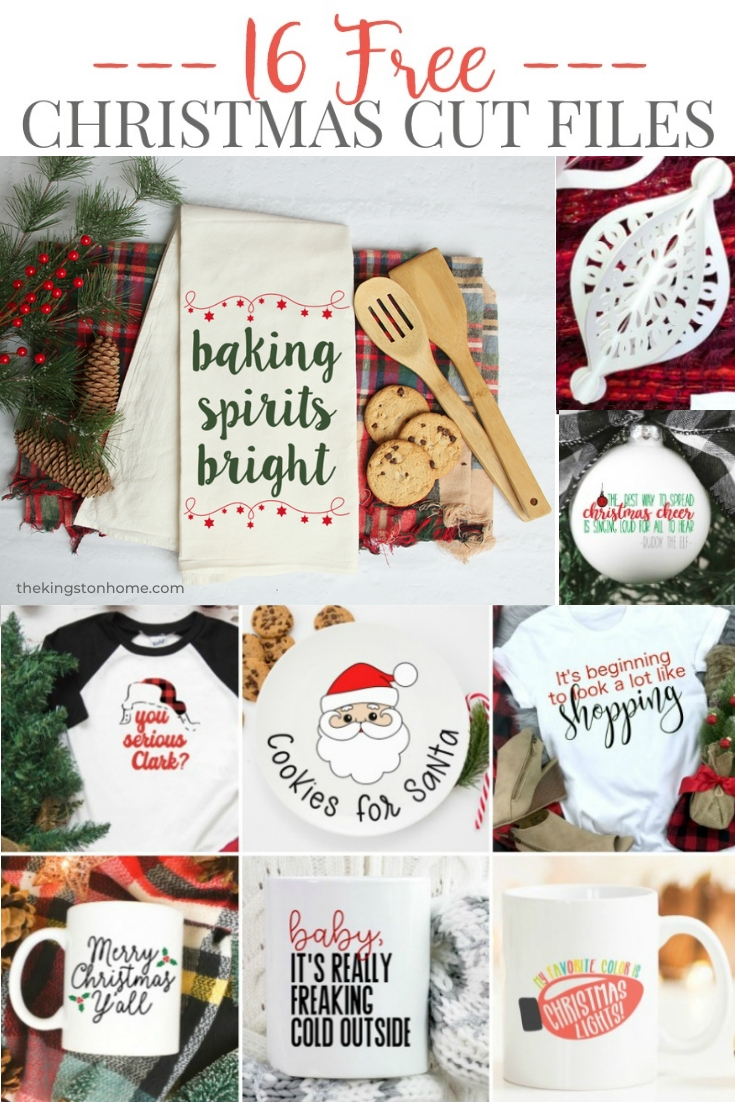 Free SVG Files for Christmas - The Kingston Home: Get ready for the holiday season with these free SVG files from some of my favorite crafty people! via @craftykingstons