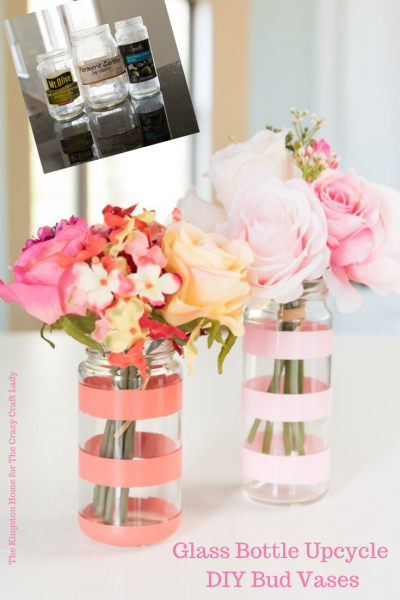 Glass Bottle Upcycle DIY Bud Vases - The Kingston Home