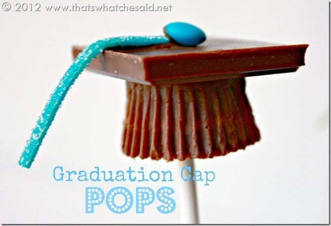 a graduation cap made out of chocolate
