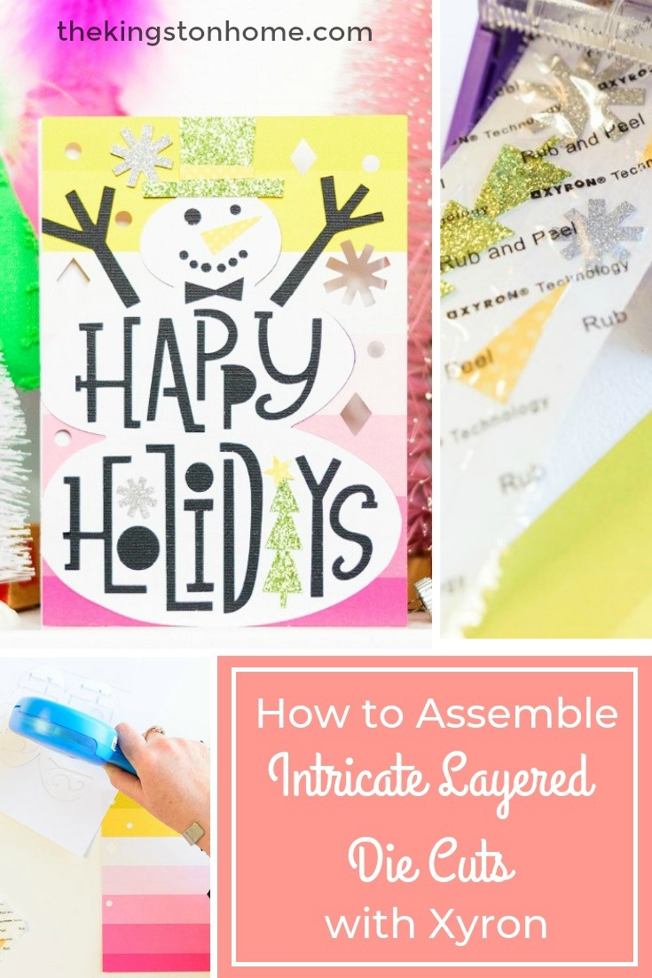 How to Assemble Intricate Layered Die Cuts with Xyron - The Kingston Home: Making cards this holiday season? Then learn how to assemble intricately layered die cuts quicker and easier, with the help of Xyron! via @craftykingstons