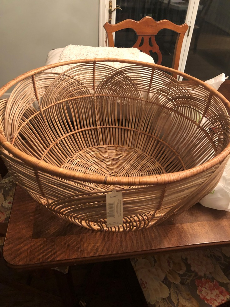 before photo of basket from joann