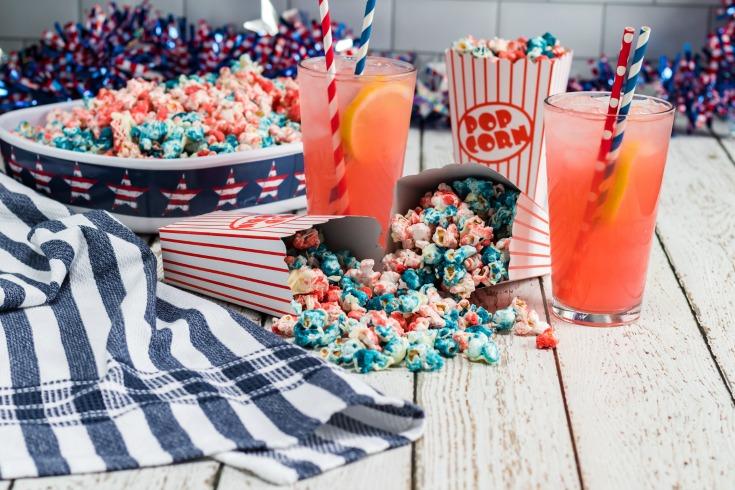 fourth of july patriotic popcorn