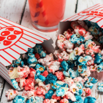 fourth of july patriotic popcorn on table
